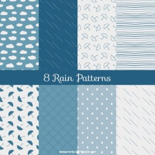 Rain Patterns Pack Free Vector
