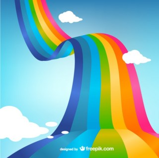 Rainbow Art Free Vector