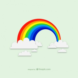 Rainbow Clouds Graphics Free Vector