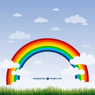 Rainbow Nature Free Vector
