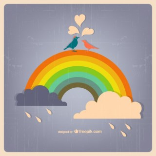 Rainbow Rain Download Free Vector