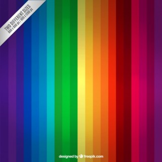 Rainbow Stripes Background Free Vector