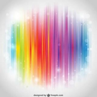 Rainbow Stripes Desktop Free Vector