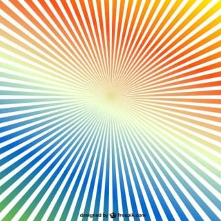 Rainbow Sunburst Background Free Vector