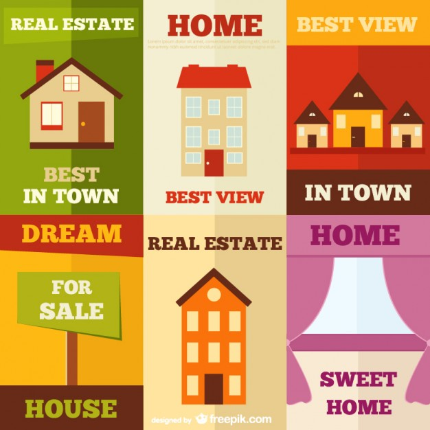 Real Estate Poster Ads Free Vector
