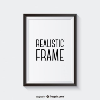 Realistic Frame Free Vector