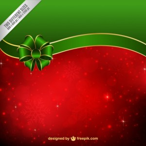 Red and Green Christmas Background Free Vector