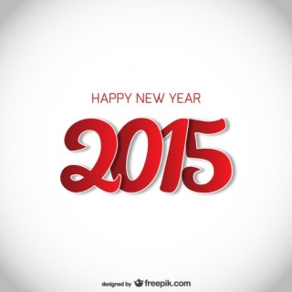 Red and White New Year Card Free Vector