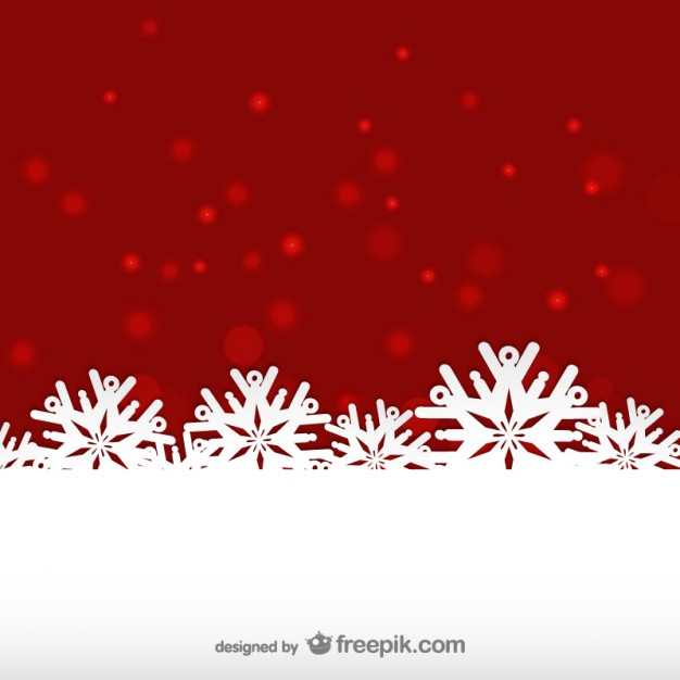Red and White Winter Background Free Vector