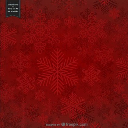Red Background with Snowflakes for Christmas Free Vector