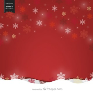 Red Background with Snowflakes Free Vector