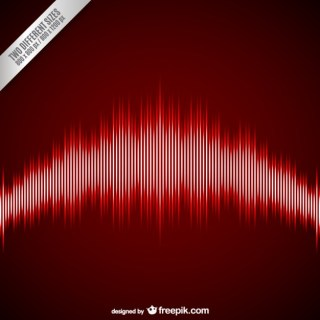Red Equalizer Background Free Vector