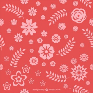 Red Floral Pattern Free Vector