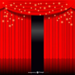 Red Glowing Curtain Free Vector