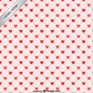 Red Hearts Background Pattern Free Vector