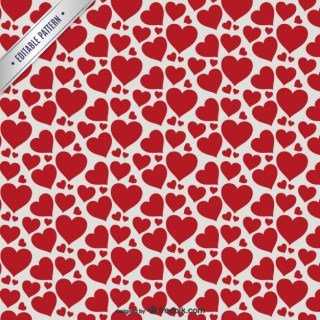 Red Hearts Seamless Pattern Free Vector