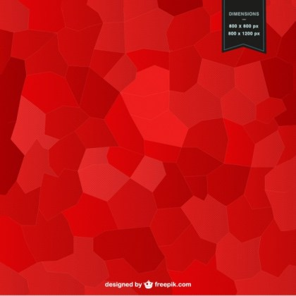 Red Mosaic Background Design Free Vector