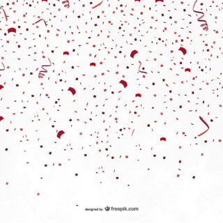 Red Party Confetti Free Vector