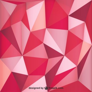 Red Polygonal Background Free Vector