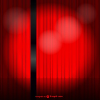 Red Stage Curtain Free Vector