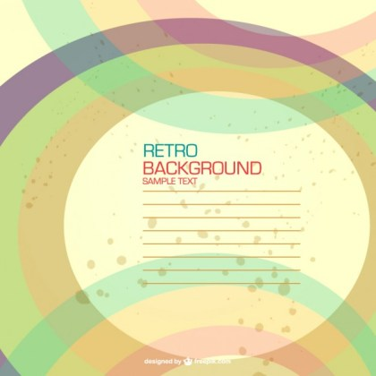 Retro Background Design Free Vector