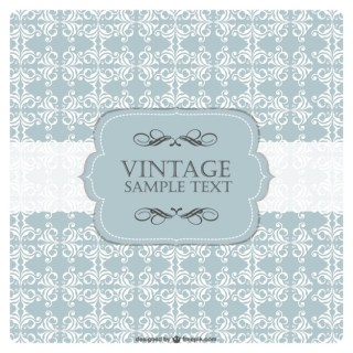 Retro Background Frame Free Vector