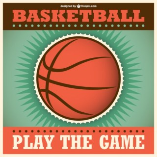 Retro Basketball Clip Art Free Vector