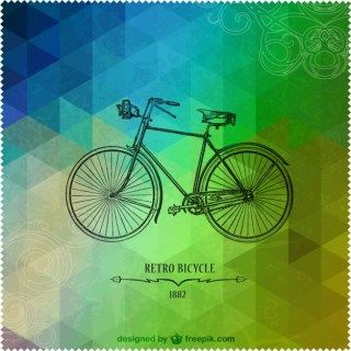 Retro Bicycle Triangle Design Free Vector