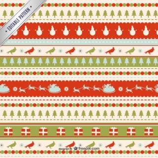 Retro Christmas Pattern Free Vector