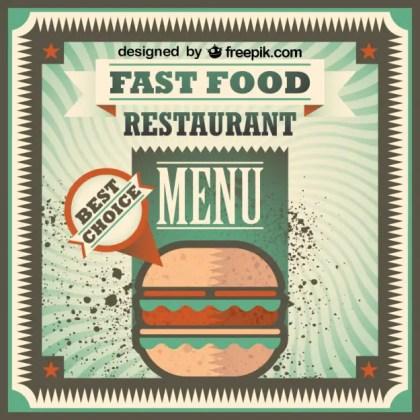 Retro Fast Food Menu Design Free Vector
