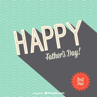 Retro Father's Day Design Free Vector