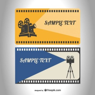 Retro Film Reel Template Free Vector