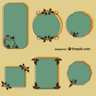 Retro Floral Frames Free for Download Free Vector