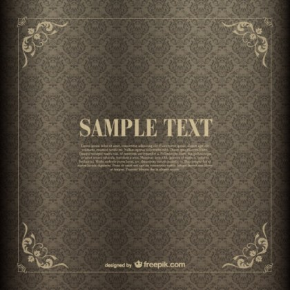 Retro Frame Background Free Vector