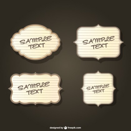 Retro Frames Template Free Vector