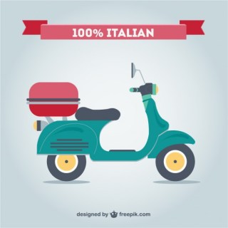 Retro Italian Motorcycle Free Free Vector