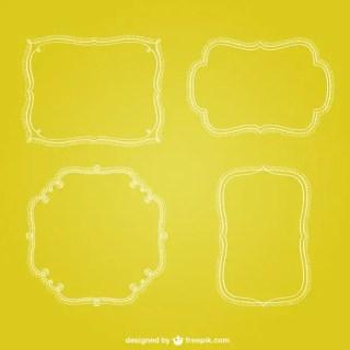 Retro Minimalist Frames Free Vector