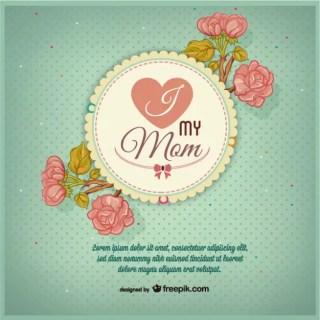 Retro Mother's Day Free Design Free Vector