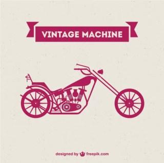 Retro Motorcycle Machine Free Free Vector