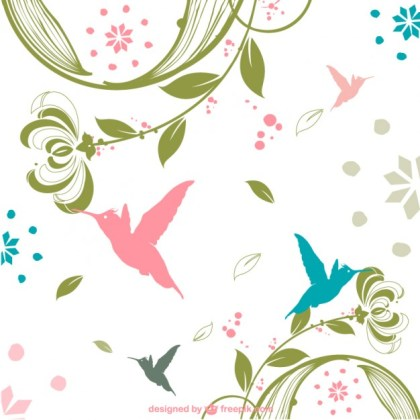 Retro Nature Background Free Vector