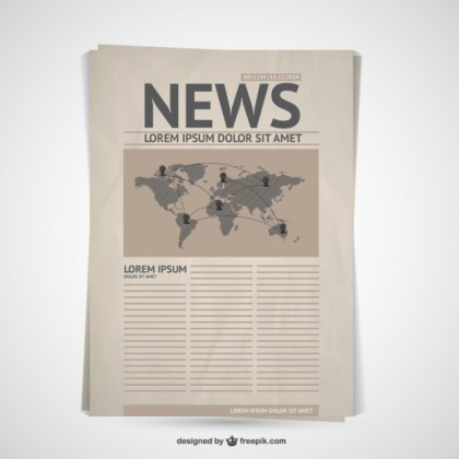 Retro Newspaper Free Vector