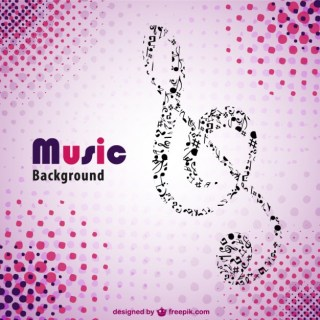 Retro Pink Music Background Free Vector