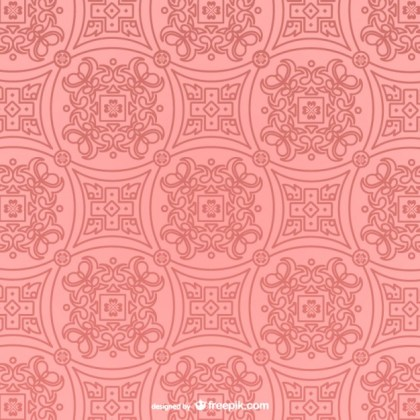 Retro Pink Pattern Free Vector