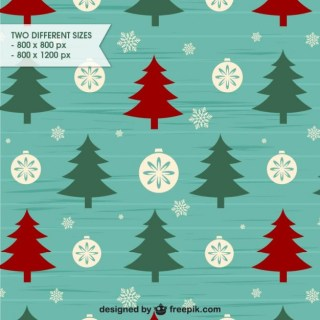 Retro Style Christmas Background Pattern Free Vector