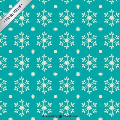 Retro Style Snowflakes Pattern Free Vector