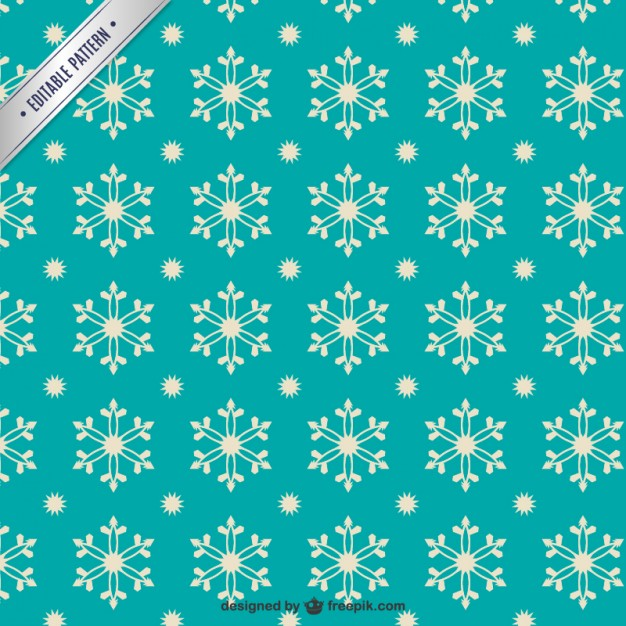 Retro Style Snowflakes Pattern Free Vector
