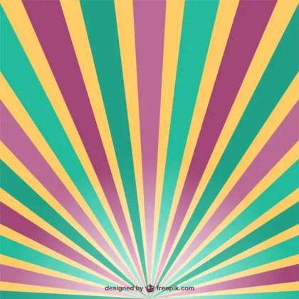 Retro Sun Rays Free Vector