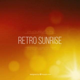 Retro Sunrise Blurred Background Free Vector