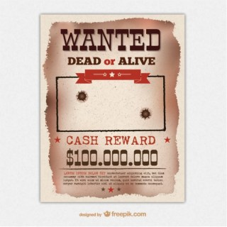 Retro Wanted Poster Template Free Vector