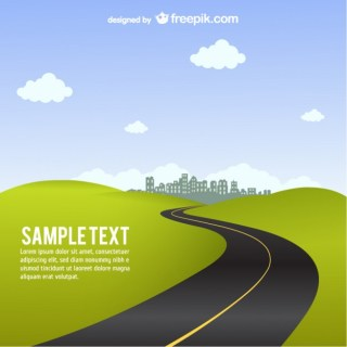 Road Background Free Vector